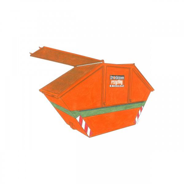 10 cbm Deckelcontainer für Aktenvernichtung