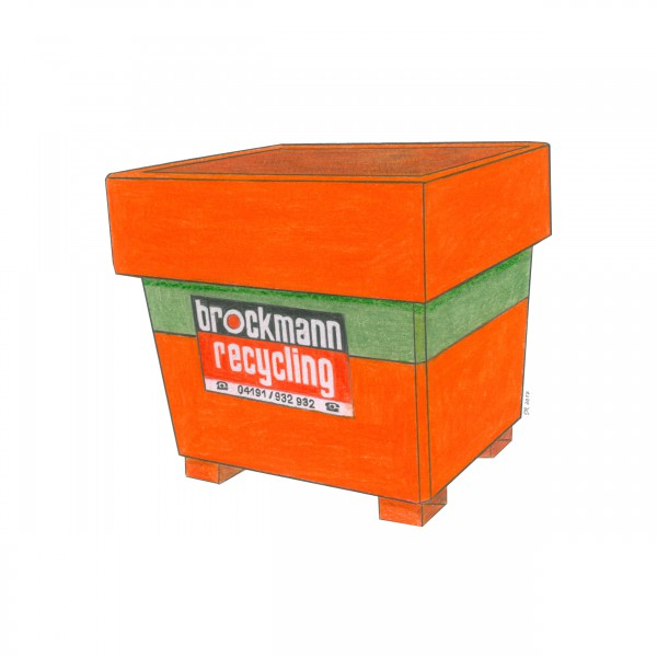 1 cbm Absetzcontainer für Altholz A1