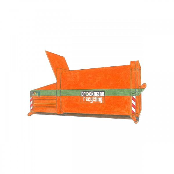 21 cbm Presscontainer für Pappe & Papier