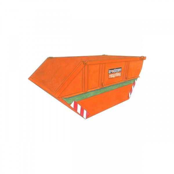 7 cbm Absetzcontainer für Gartenabfall