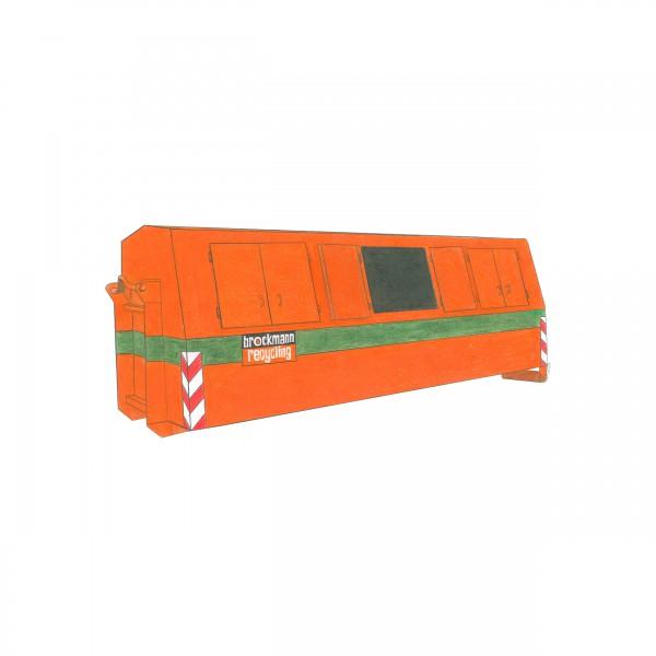 19 cbm Deckelcontainer für Aktenvernichtung