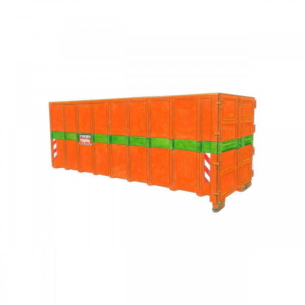 35 cbm Abrollcontainer für Altholz A1-A3