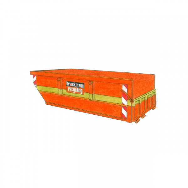 5,5 cbm Absetzcontainer für Ziegelschutt