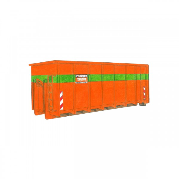 25 cbm Abrollcontainer für Altholz A1-A3