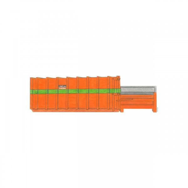 32 cbm Presscontainer für Gewerbeabfall